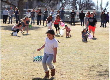 Easter Egg Hunt sponsored by the Scobey Lions Club