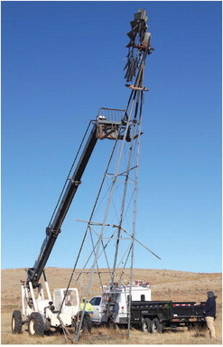 Windmill Finds  New Home At  Pioneer Town